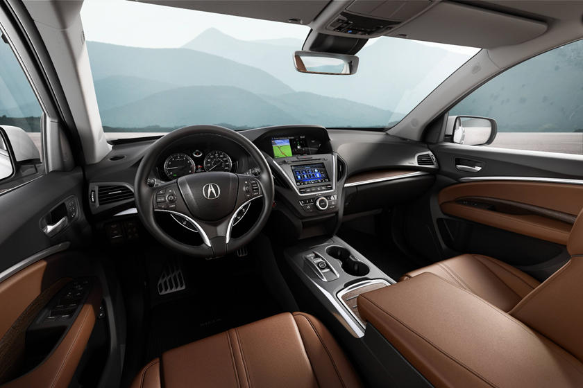 2020 Acura MDX hybrid SUV Dashboard and seats