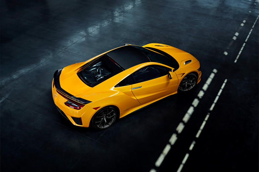 2020 Acura NSX Coupe Top View