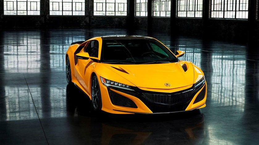 2021 Acura NSX Coupe Front Side Three Quarter View