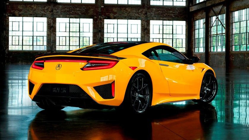 2021 Acura NSX Coupe Rear Side Three Quarter View