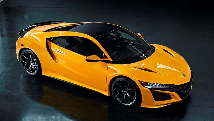 2021 Acura NSX Coupe Top Angle View