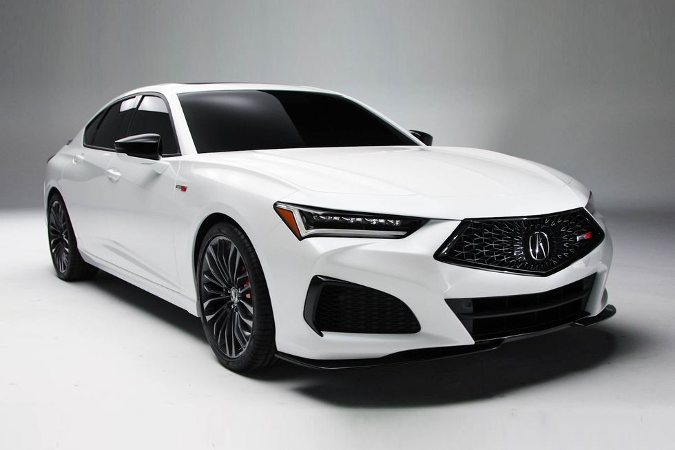 2021 Acura TLX Front Third Quarter View