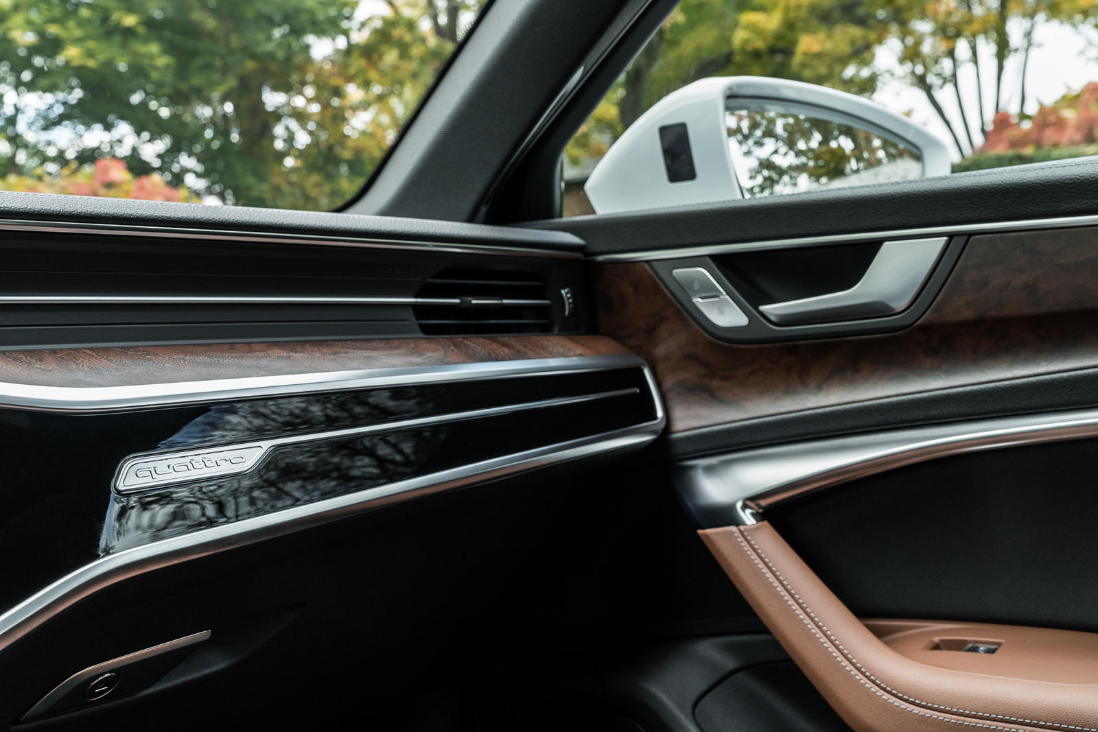 Aluminum and Wood inlays in the dashboard