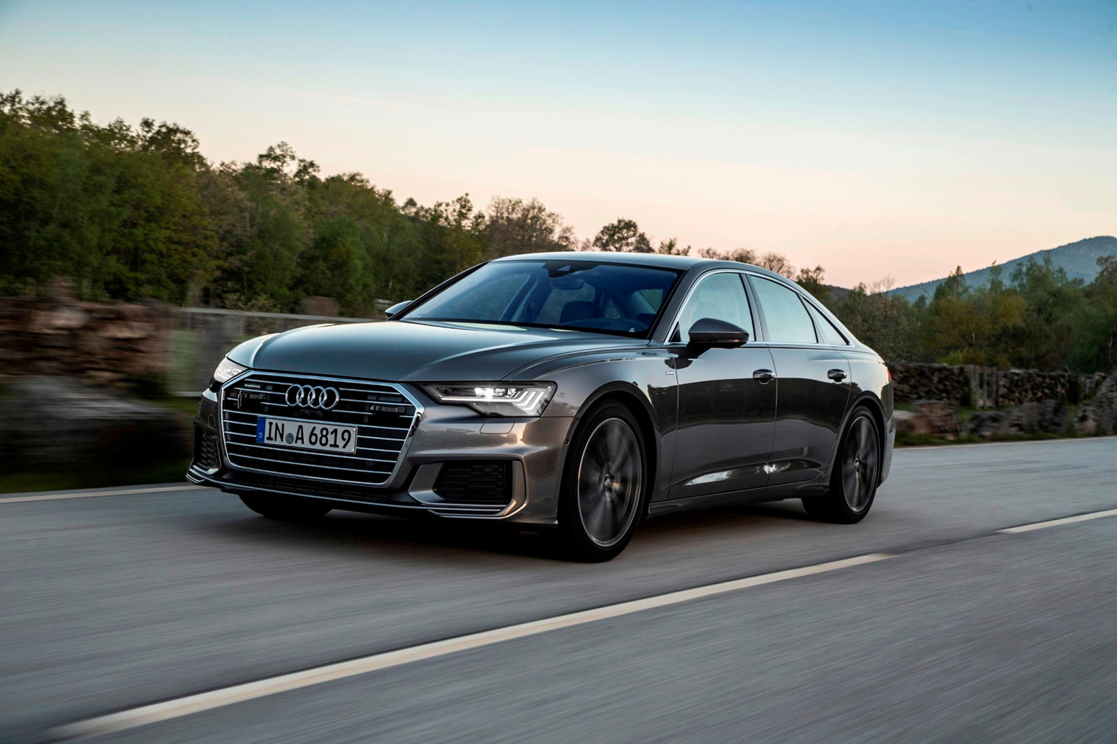 Audi A6 in action