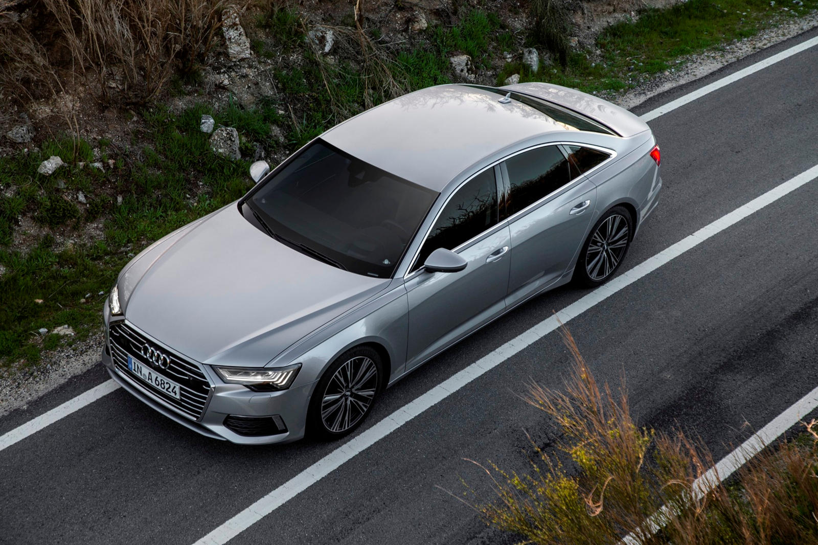 Audi A6 when viewed from the Top