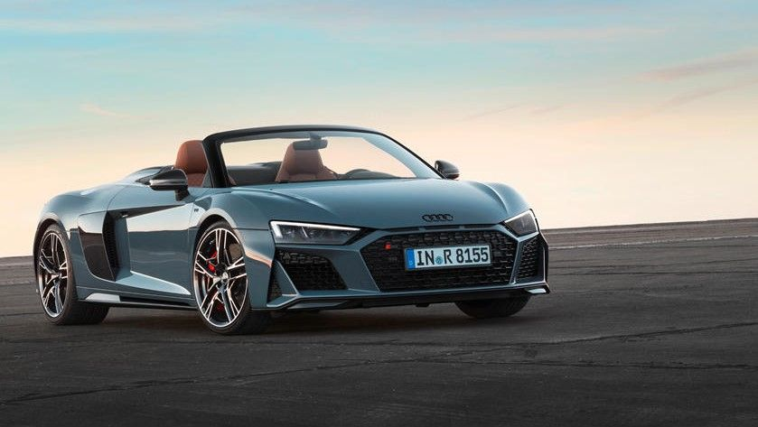 2021 Audi R8 Spyder Front Angle View