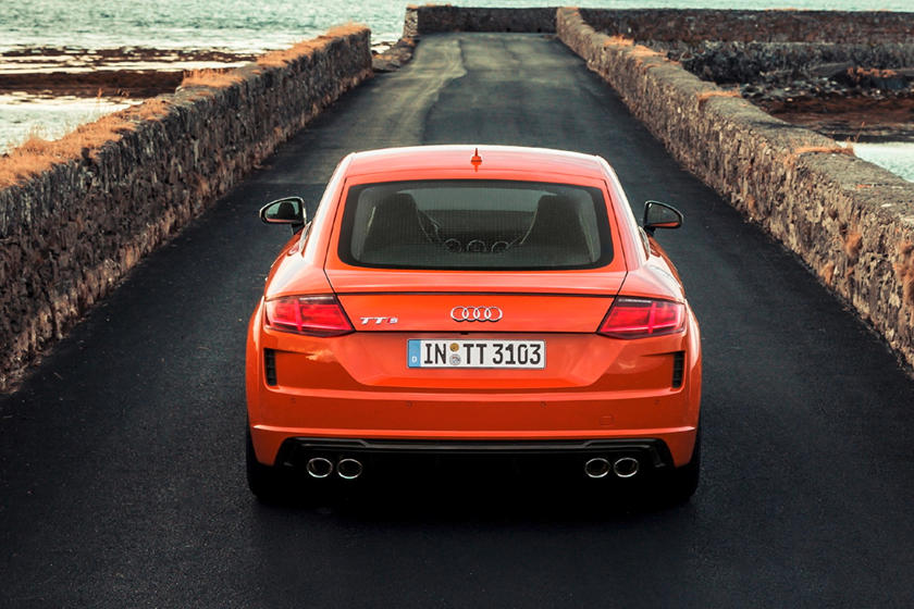 2020 Audi TTS coupe rear view