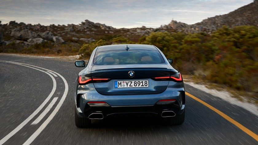 2021 BMW 4 Series Coupe Rear View