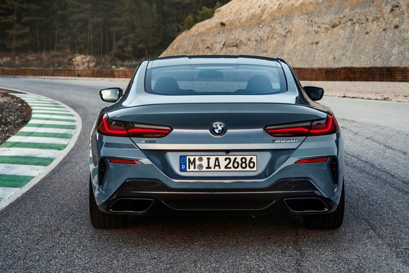 2021 BMW 8 Series Coupe Rear View