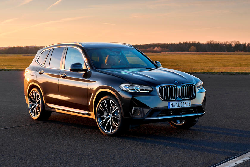 2022 BMW X3 SUV front angle view