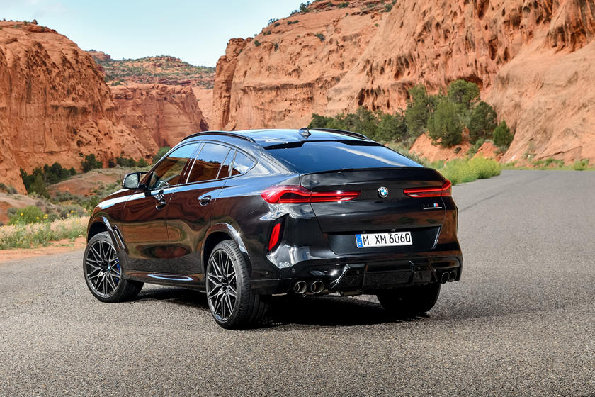 2020 BMW X6 M Crossover Rear View