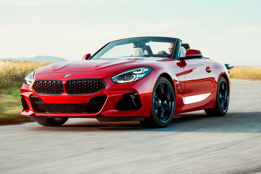 2021 BMW Z4 M40i Convertible front three quarter view