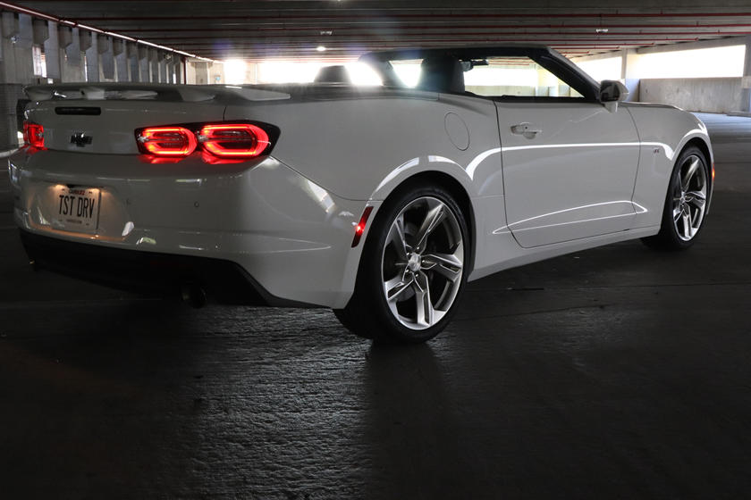 2020 Chevrolet Camaro Convertible rear three quarter view
