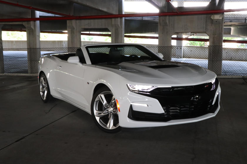 2020 Chevrolet Camaro SS Convertible front three quarter view