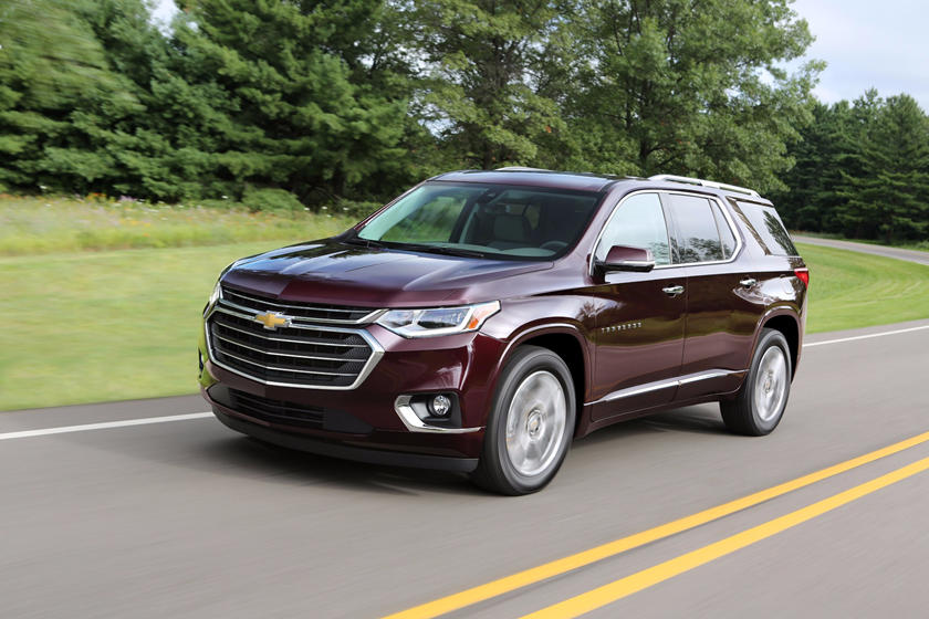 2018 Chevrolet Traverse SUV front angle view