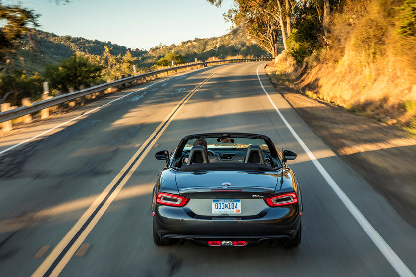 2018 Fiat 124 Spider Convertible rear view
