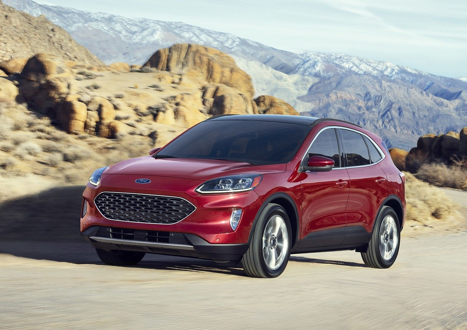 2021 Ford Escape plug-in-hybrid SUV front 3 quarter view