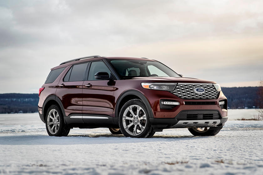2020 Ford Explorer SUV Three Quarter view