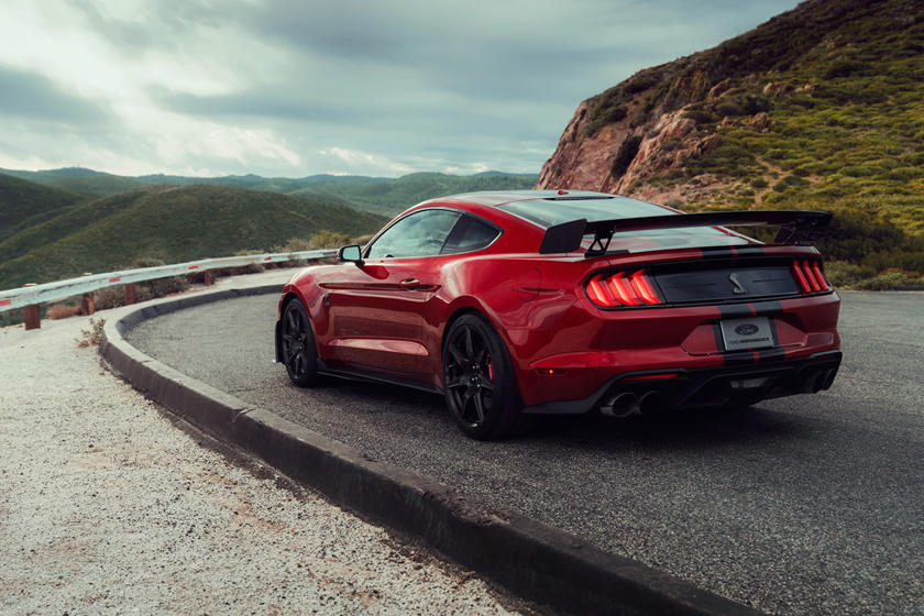 2020 Ford Mustang Shelby GT500 Coupe Rear View Exterior