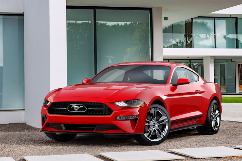 2020 Ford Mustang Coupe Three Quarter View