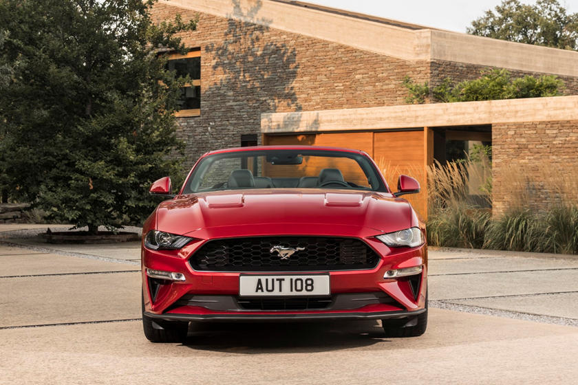 2021 Ford Mustang convertible front view