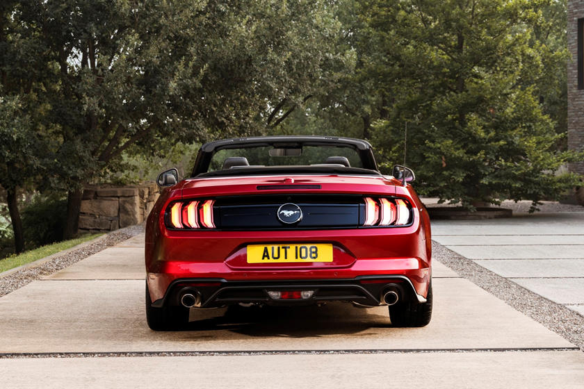 2021 Ford Mustang convertible rear view