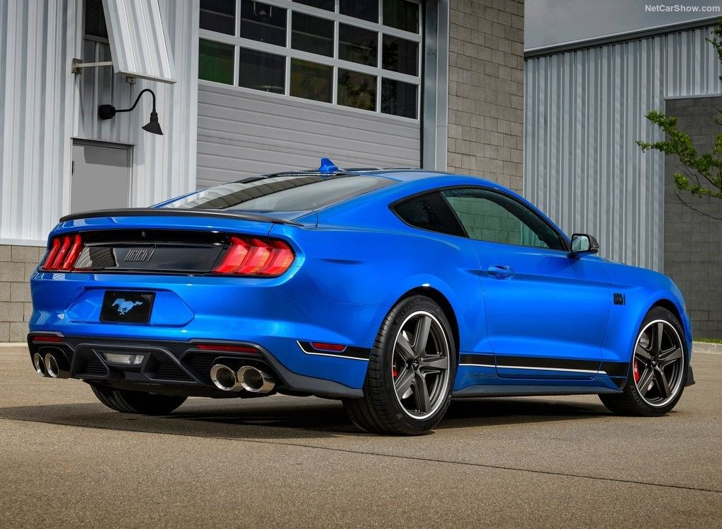 2021 Ford Mustang Coupe Rear 3 Quarter View