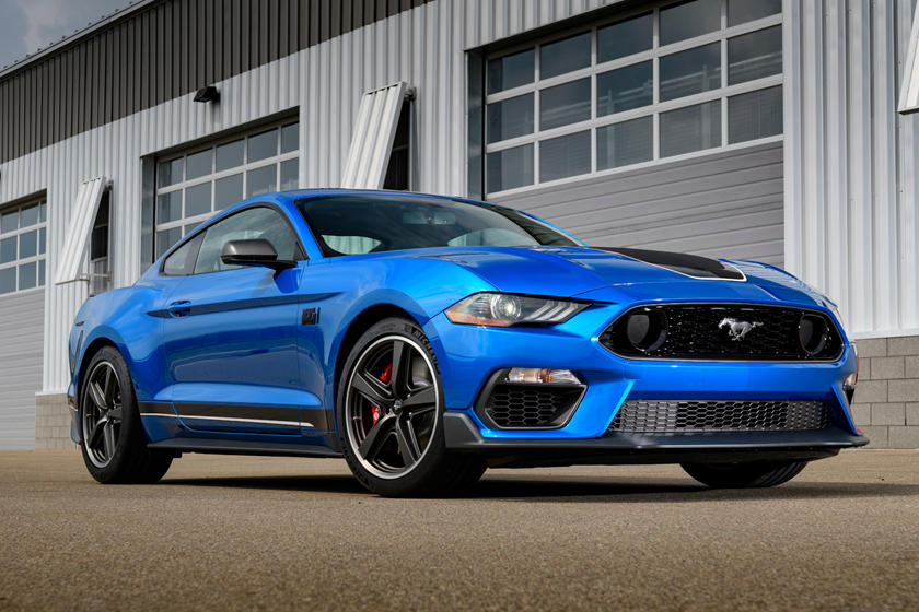 021 Ford Mustang Mach 1 Coupe front third quarter view