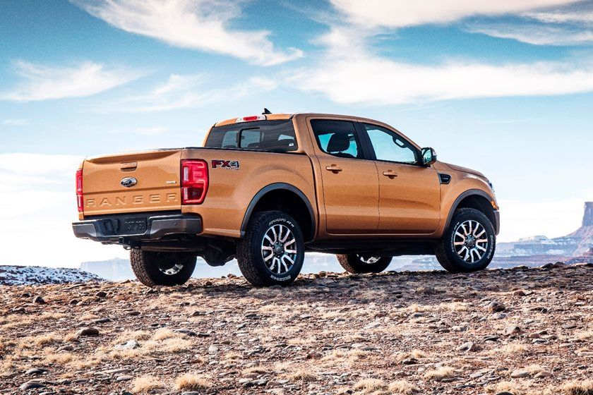 2020 Ford Ranger Crew Cab Rear View