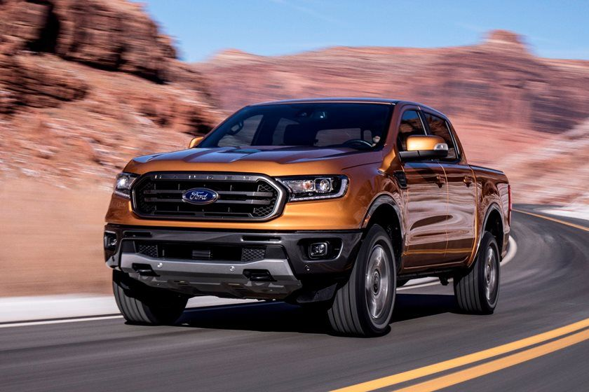2021 Ford Ranger Crew Cab front three quarter view