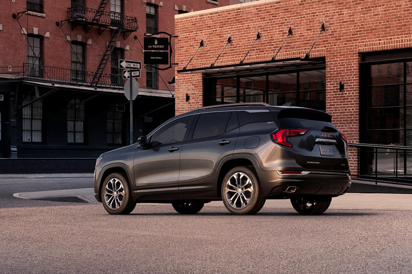 2021 GMC Terrain SUV Rear 3 Quarter View