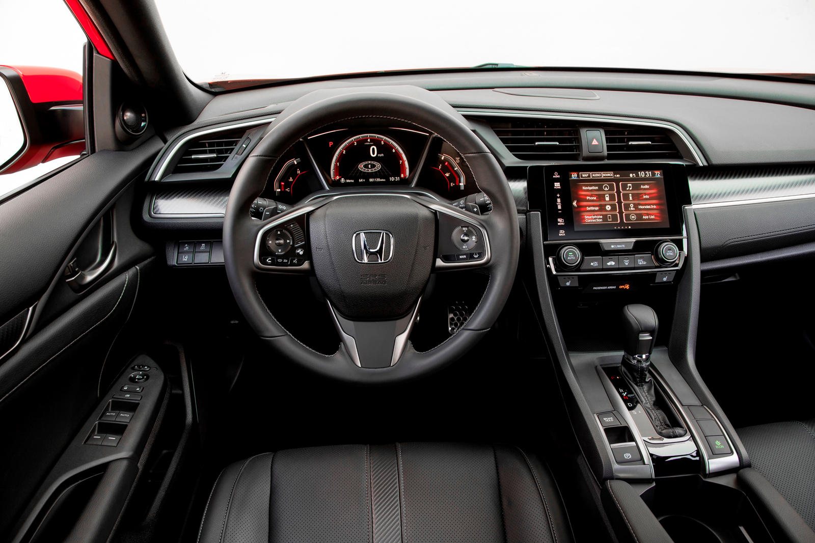 2020 Honda Civic Hatchback Interior staring