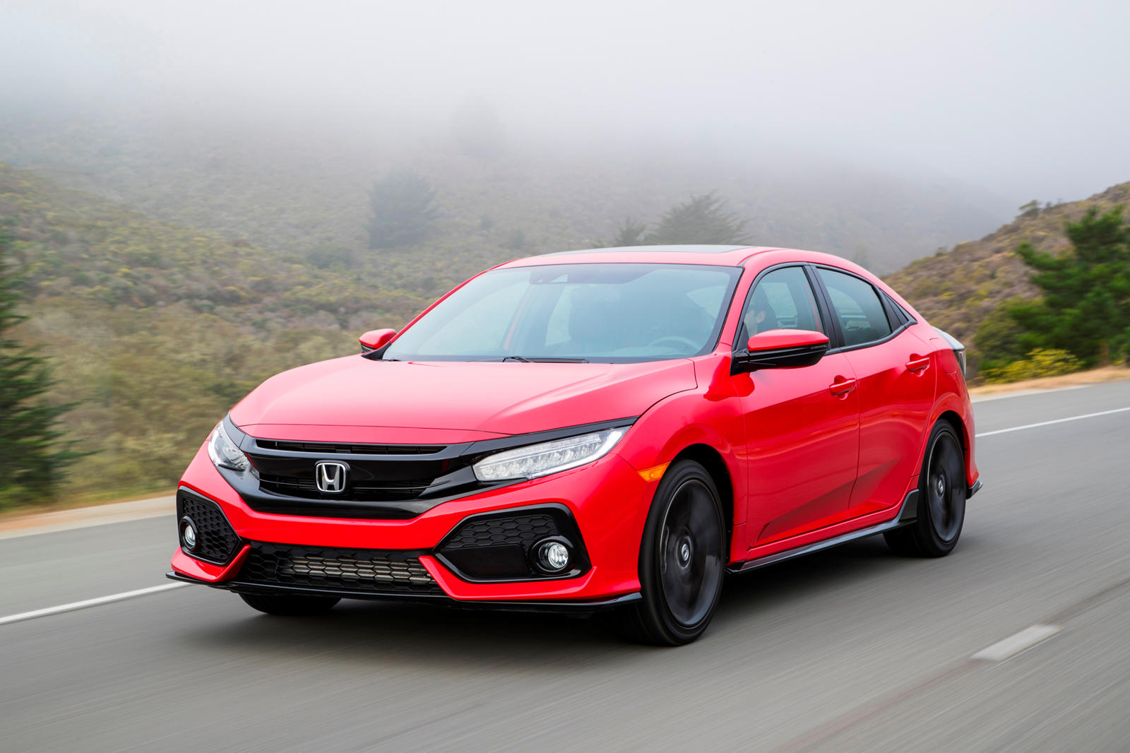 2020 Honda Civic Hatchback 3 view
