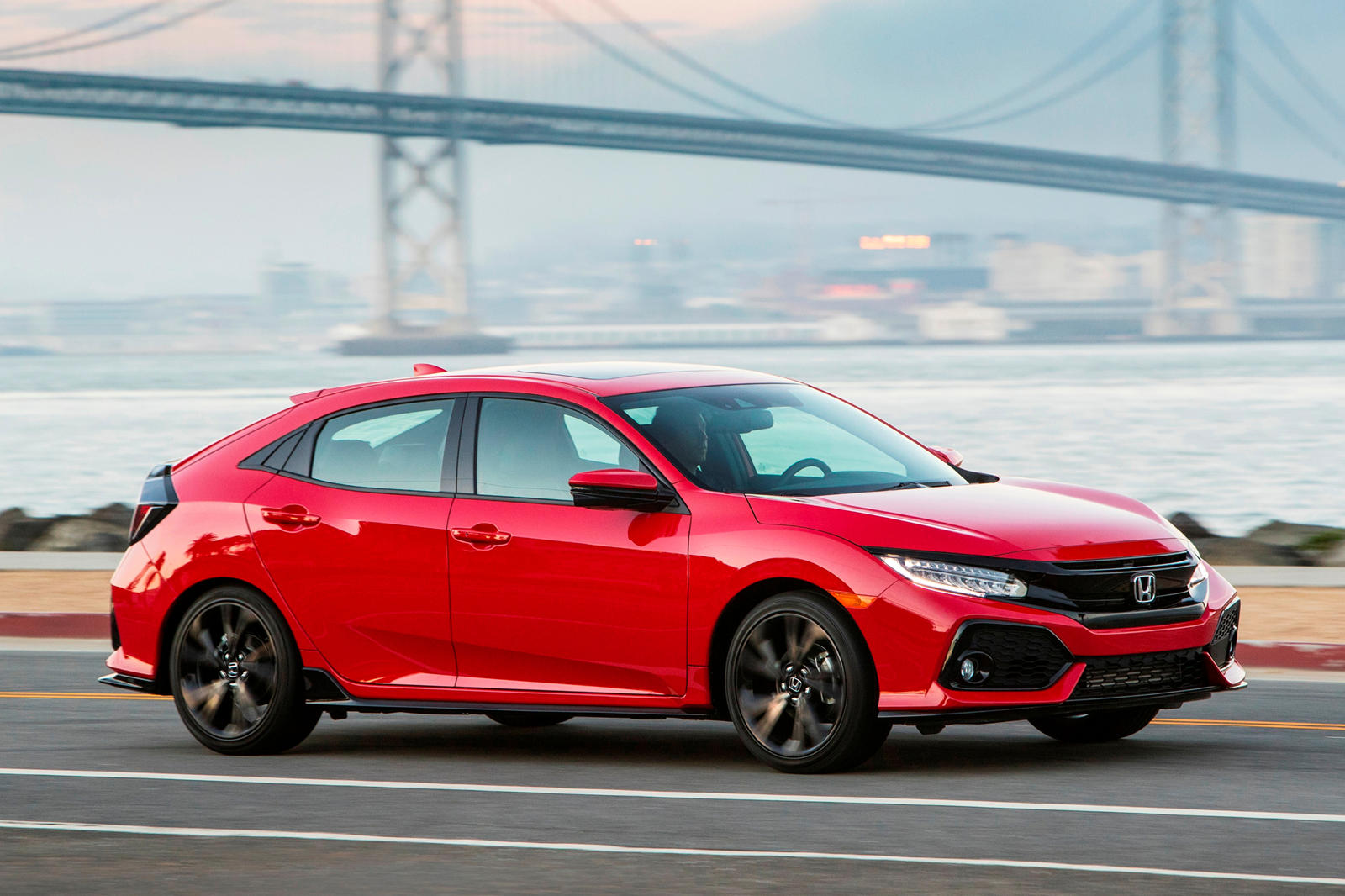 2020 Honda Civic Hatchback Exterior side view