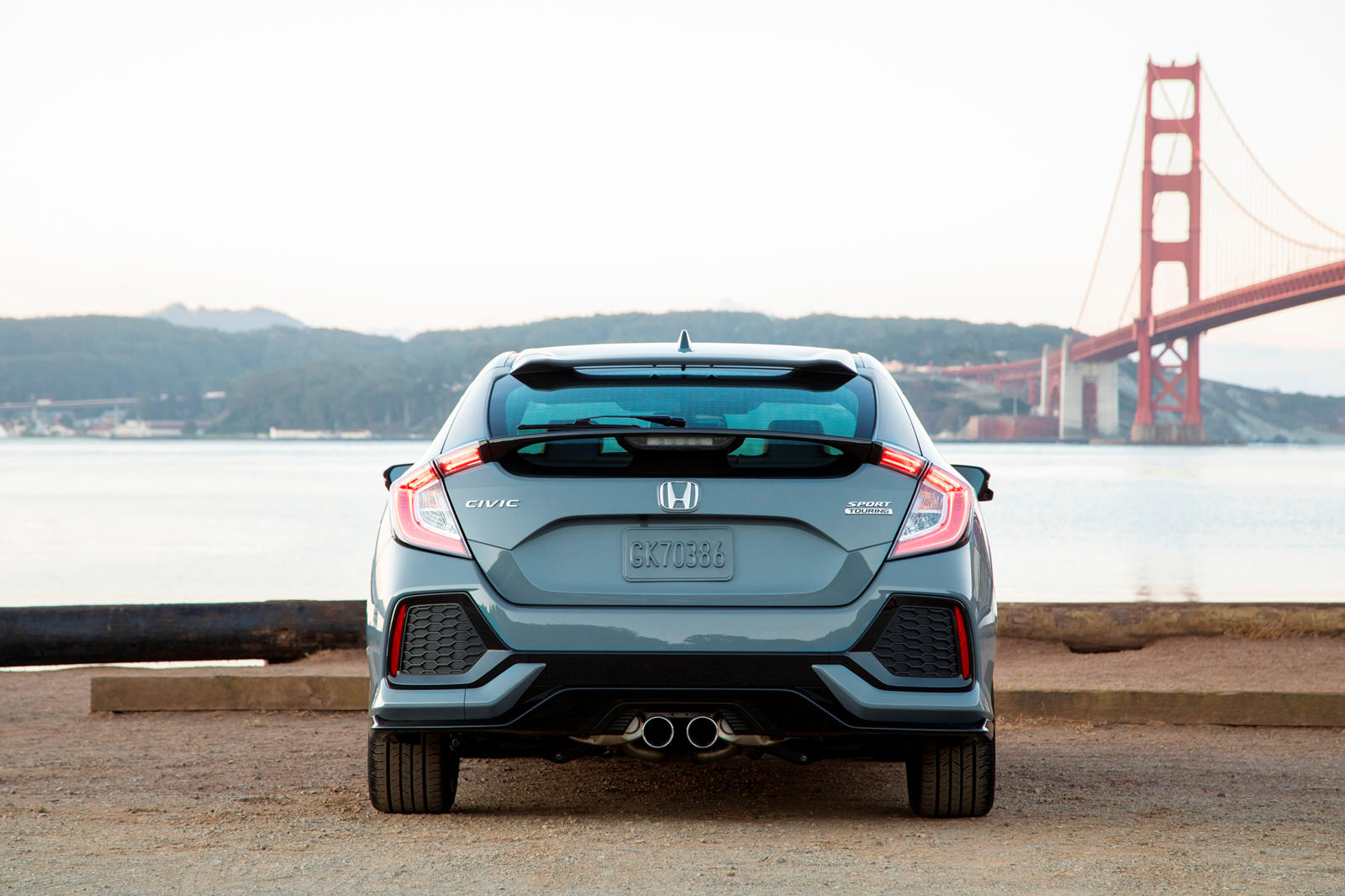 2020 Honda Civic Hatchback Rear View