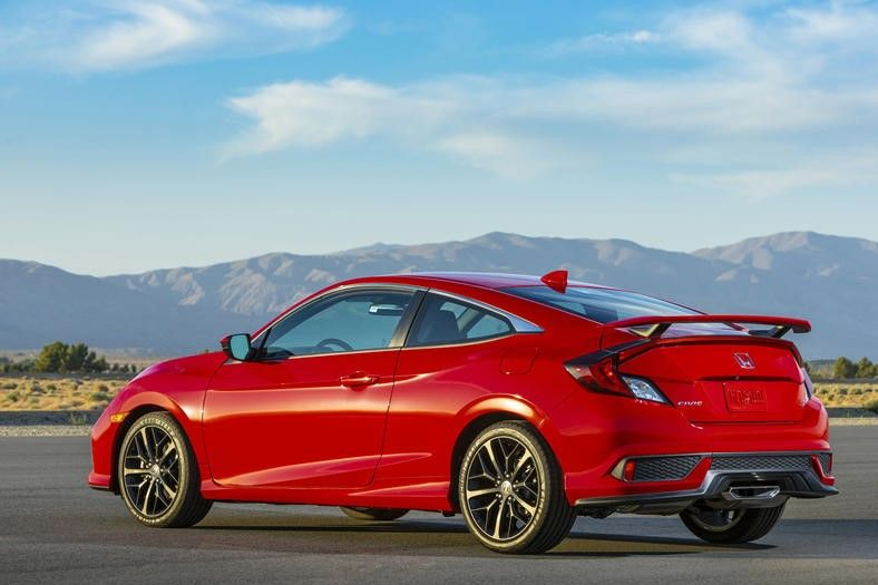 2020 Honda Civic Si Coupe Rear View
