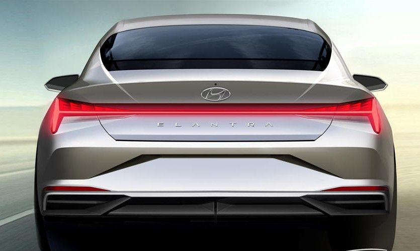 2021 Hyundai Elantra Sedan Rear View