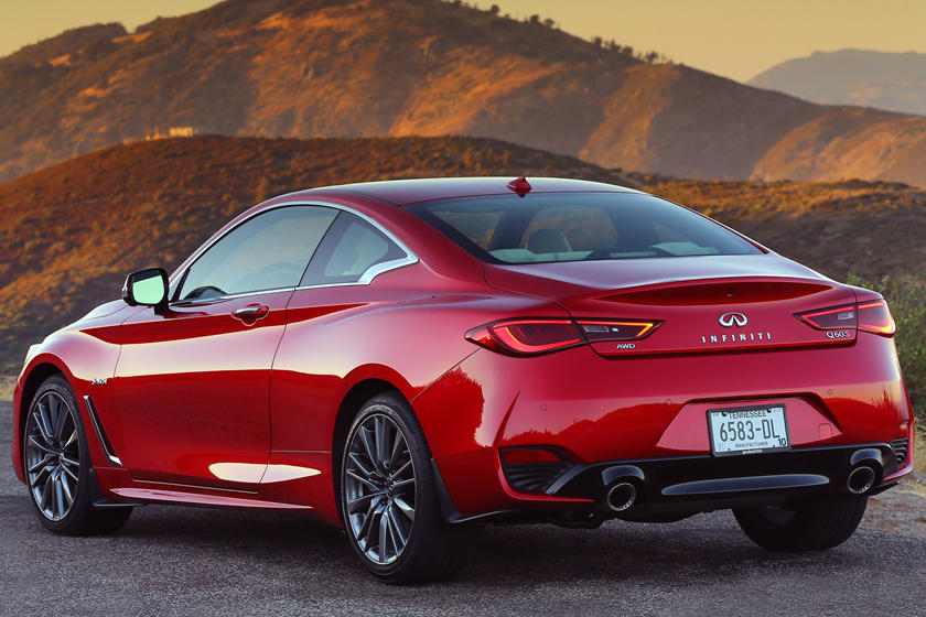 2020 Infiniti Q60 Coupe Rear View