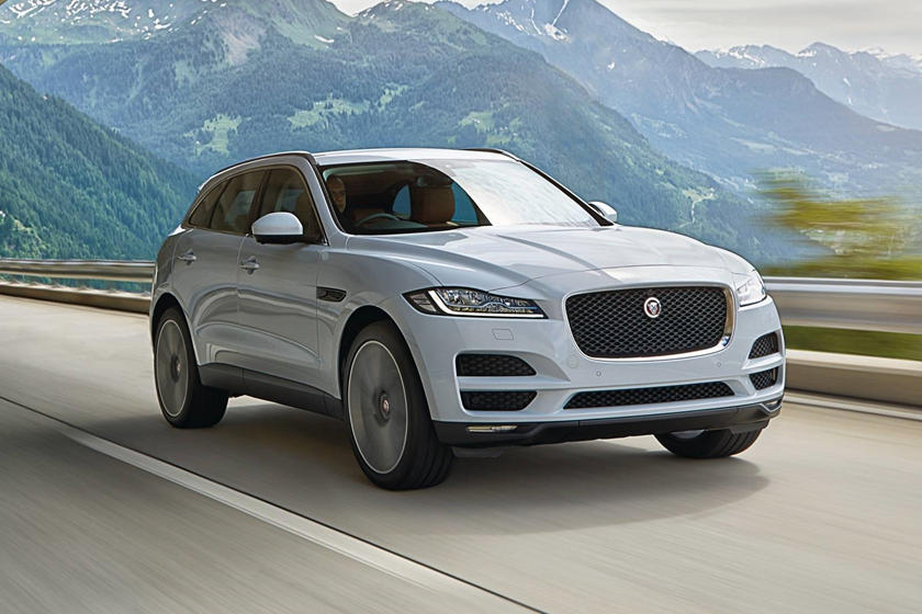 2018 Jaguar F-PACE SUV front angle view