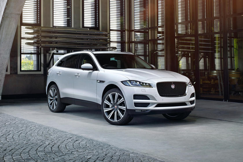2019 Jaguar F-PACE SUV Front Angle View