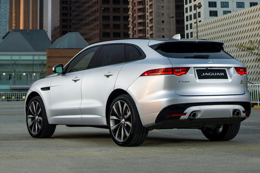 2020 Jaguar F-PACE SUV Rear View