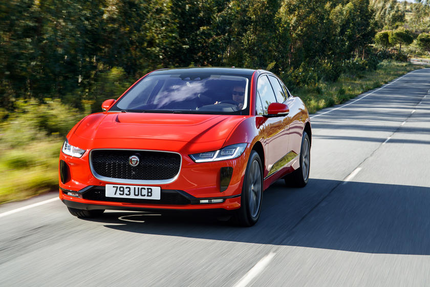 2019 Jaguar I-PACE electric SUV Front Angle View
