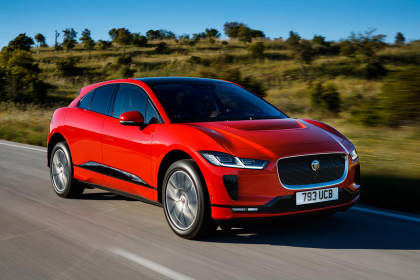 2021 Jaguar I-PACE electric SUV front angle view