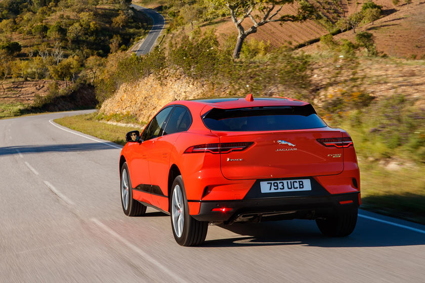 2021 Jaguar I-PACE electric SUV rear angle view