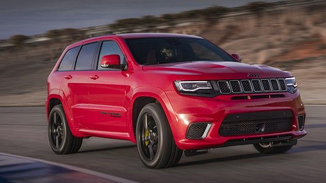 2020 Jeep Grand Cherokee Trackhawk in red color
