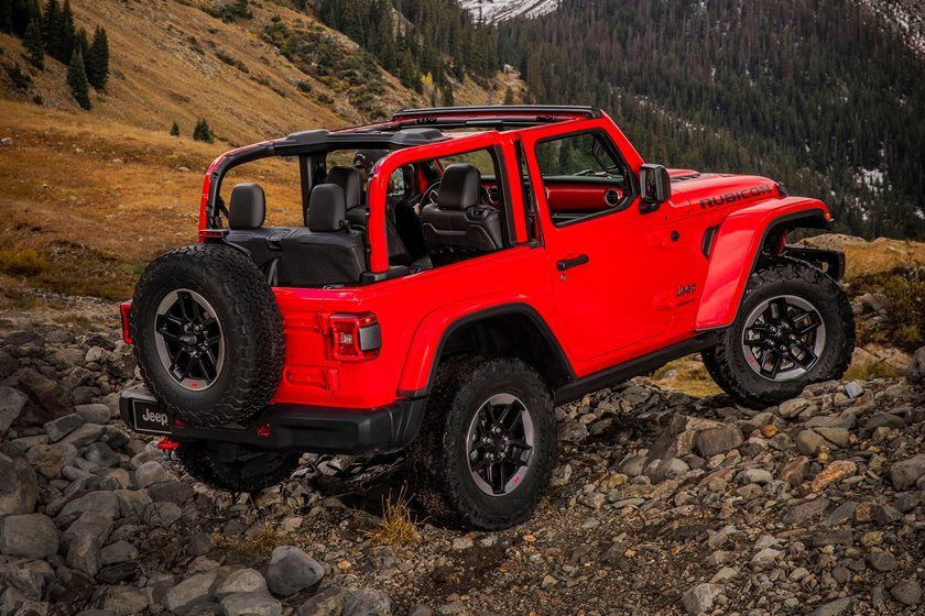 2020 Jeep Wrangler Rear View