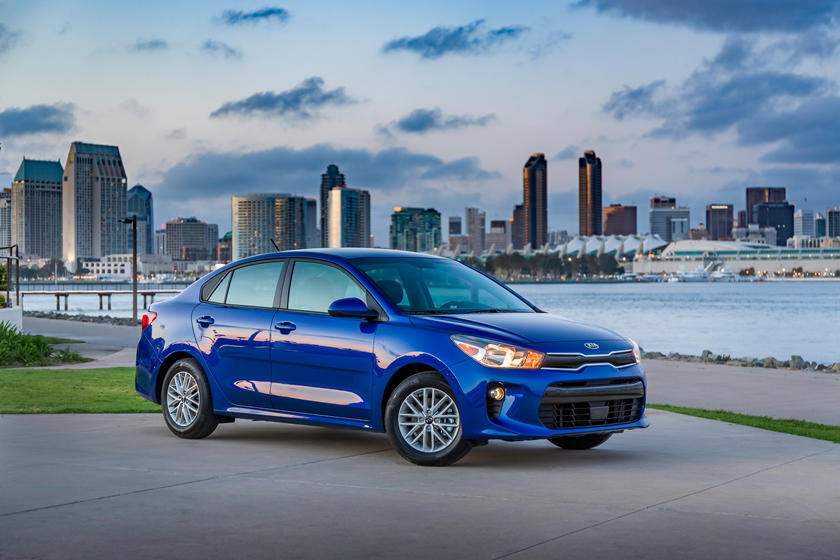 2021 Kia Rio Sedan Front Third Quarter View
