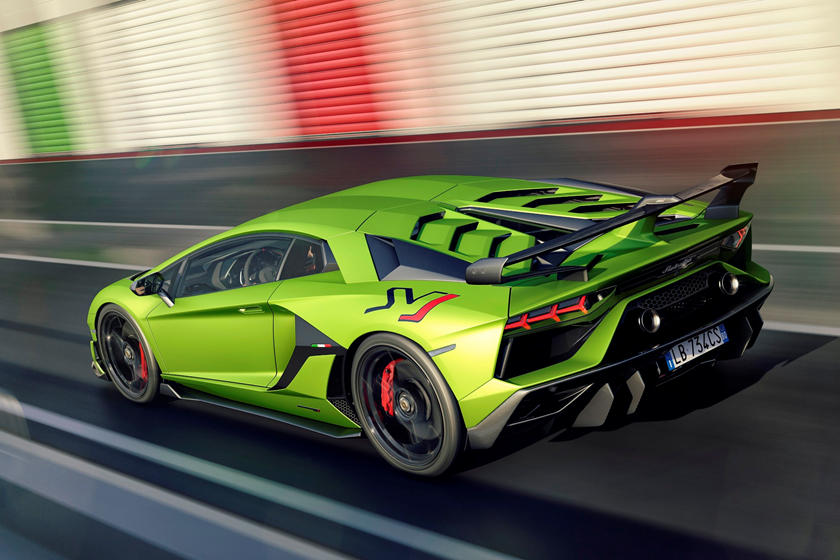 2020 Lamborghini Aventador SVJ Coupe Rear View