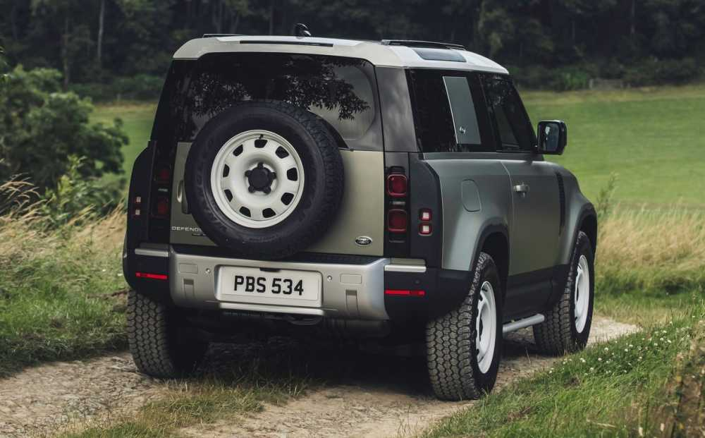 2021 Land Rover Defender SUV Rear View