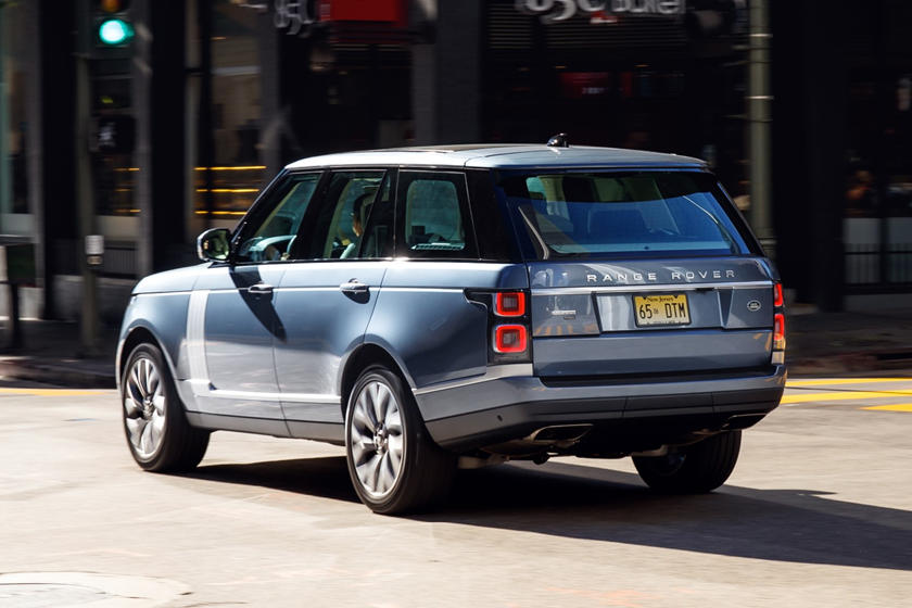 2020 Land Rover Range Rover plug-in-hybrid SUV rear view
